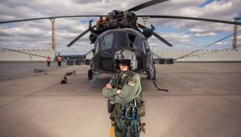 Vojákyně-střelkyně z vrtulníků, střelkyně, vrtulník, Jarča, Oslavany 12.9. 2019